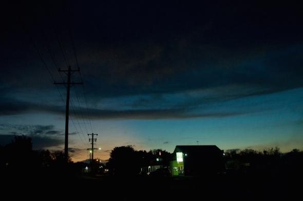 Romsey at night, photography by Michelle Thompson, Macedon Ranges